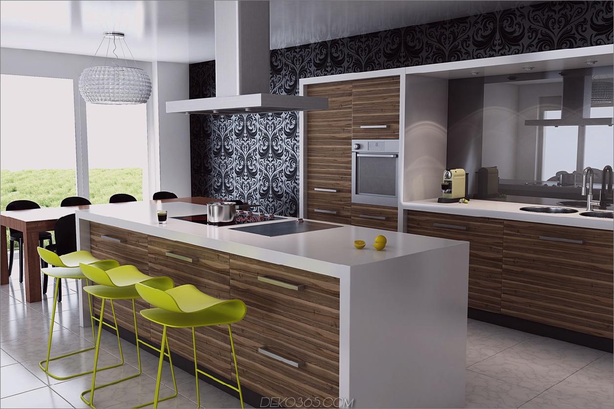Küche mit Multisize-Schränken 10 Charming Yet Organized Küchen