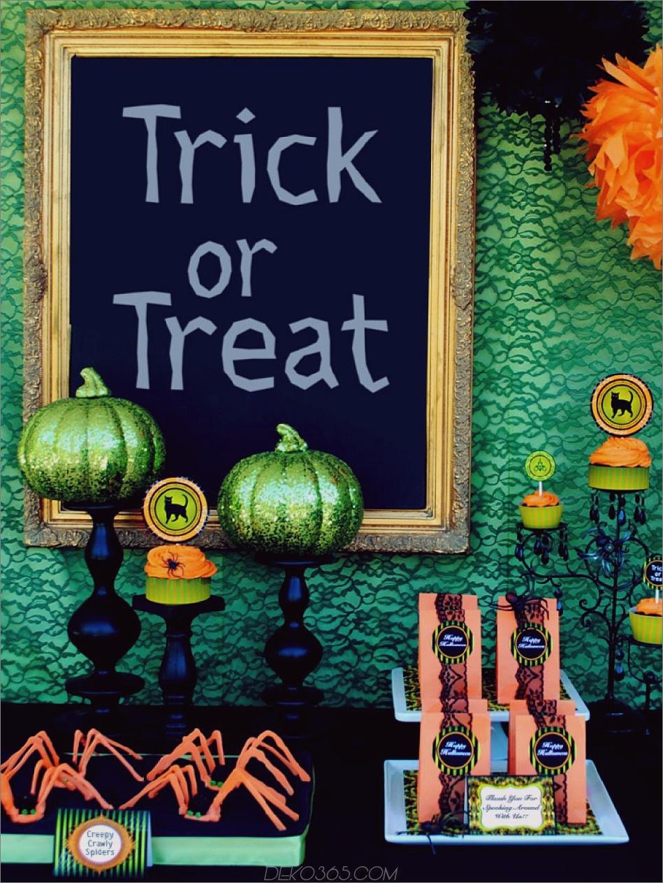 Grün und Spitze Halloween 10 Dekorieren von Ideen für eine atemberaubende Halloween-Tabelle