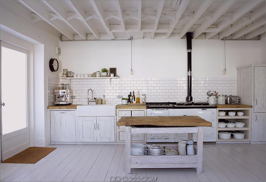 Weiße, rustikale Insel 10 Rustikale Kücheninsel Ideen, die zu berücksichtigen sind