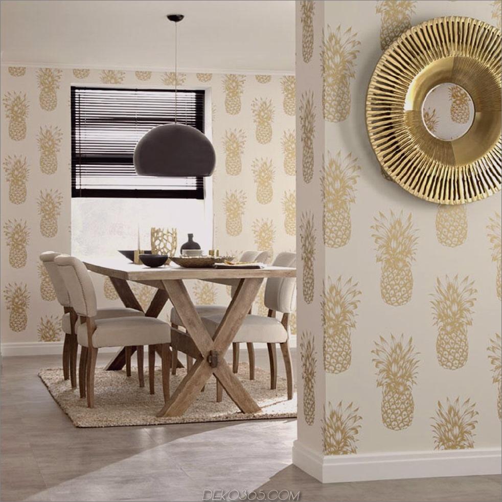 Gold- und Cremetapeten 11 Atemberaubende Tapeten für das Esszimmer