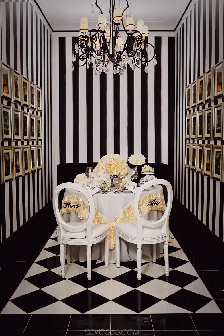 Schwarz-Weiß-Tapete kühn 11 Atemberaubende Tapeten für das Esszimmer