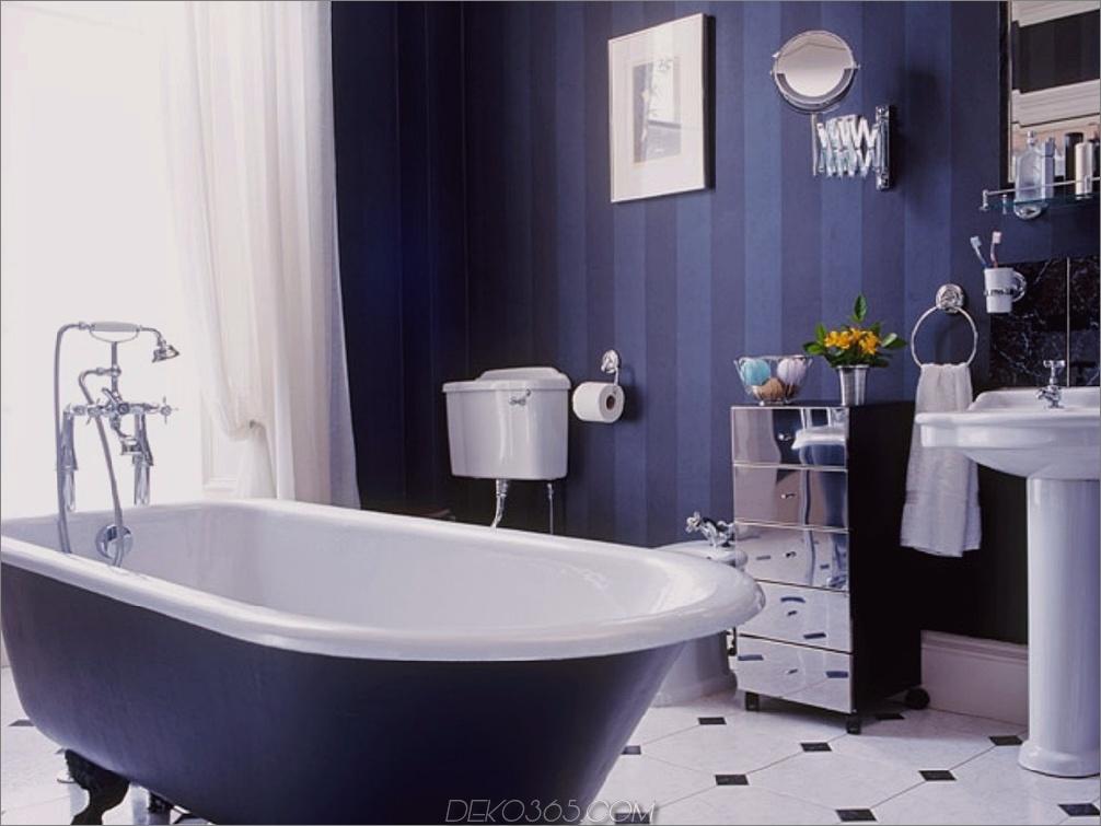 marineblaue Farbtöne im Badezimmer 11 Farben, die Ihr Badezimmer total aussehen lassen