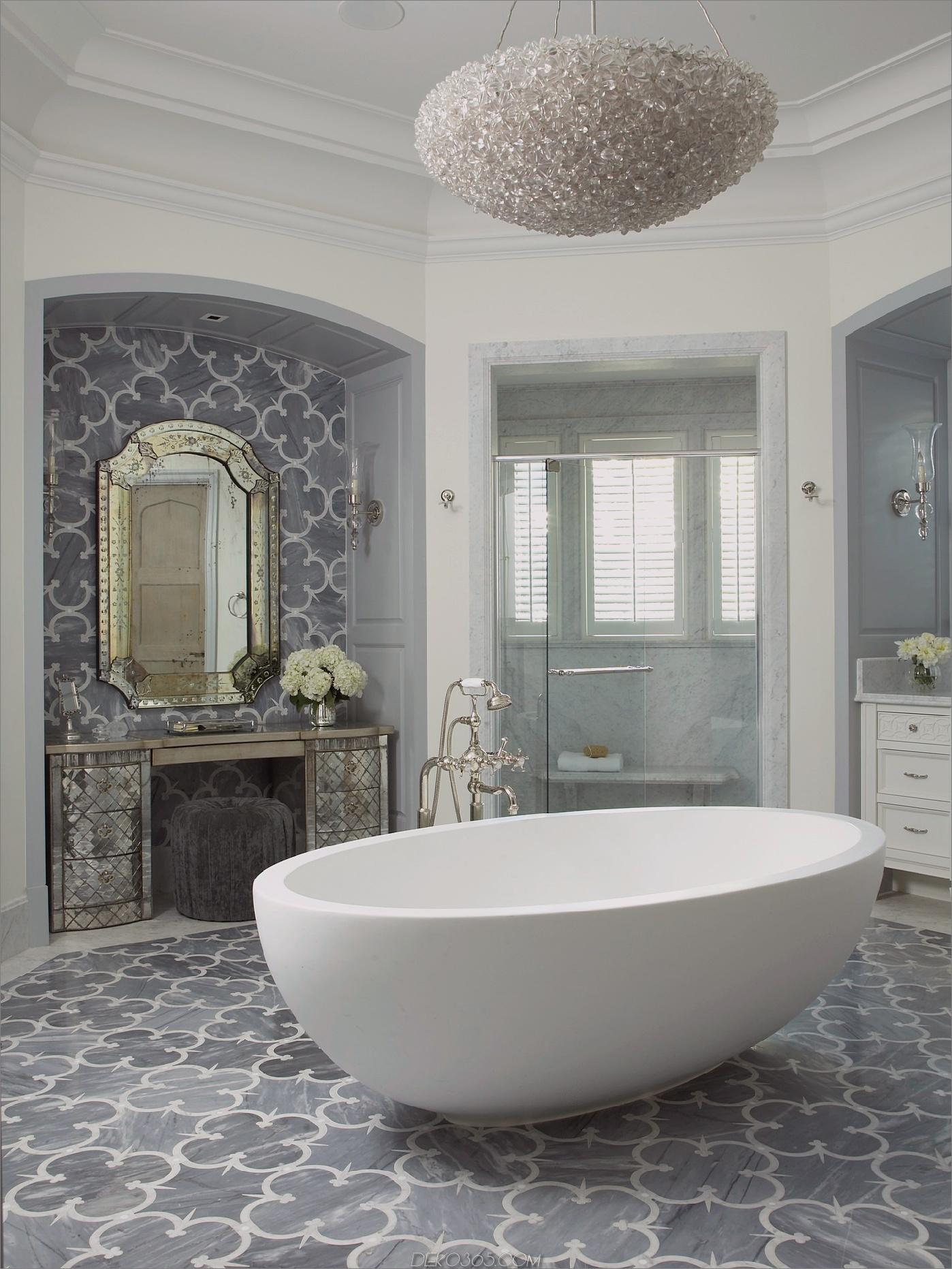 freistehende badewanne mit monochromatischen 11 modernen badezimmern, die ihre kreativität inspirieren