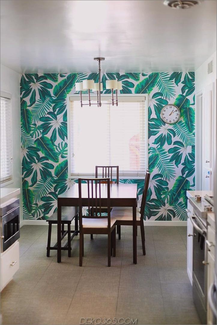 tropische Tapete im Speisesaal 12 Elemente für den Innenausbau, um Ihrem Raum sofort hinzuzufügen