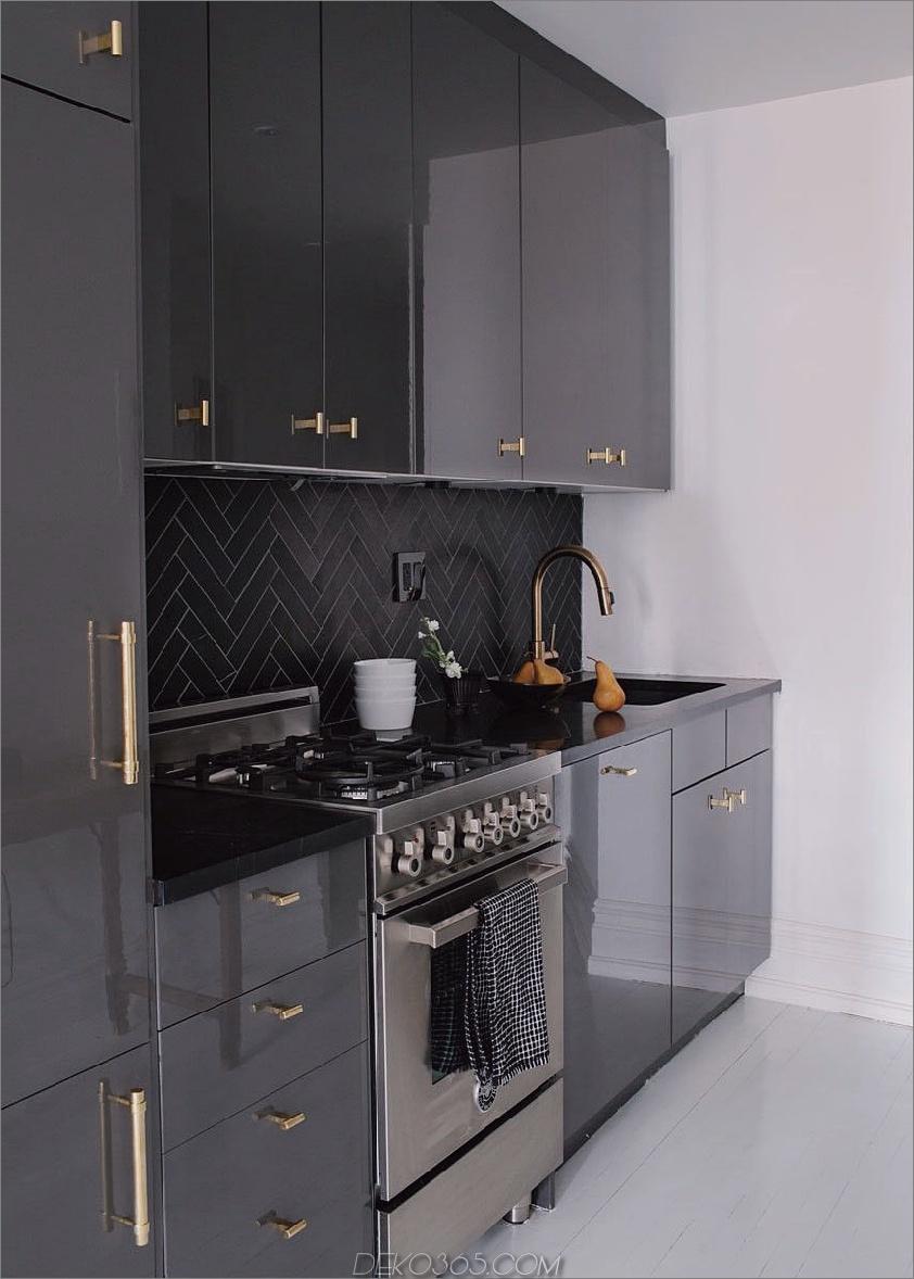 schwarz glänzende Fliesen 12 Amazing Küchen mit glänzenden Fliesen