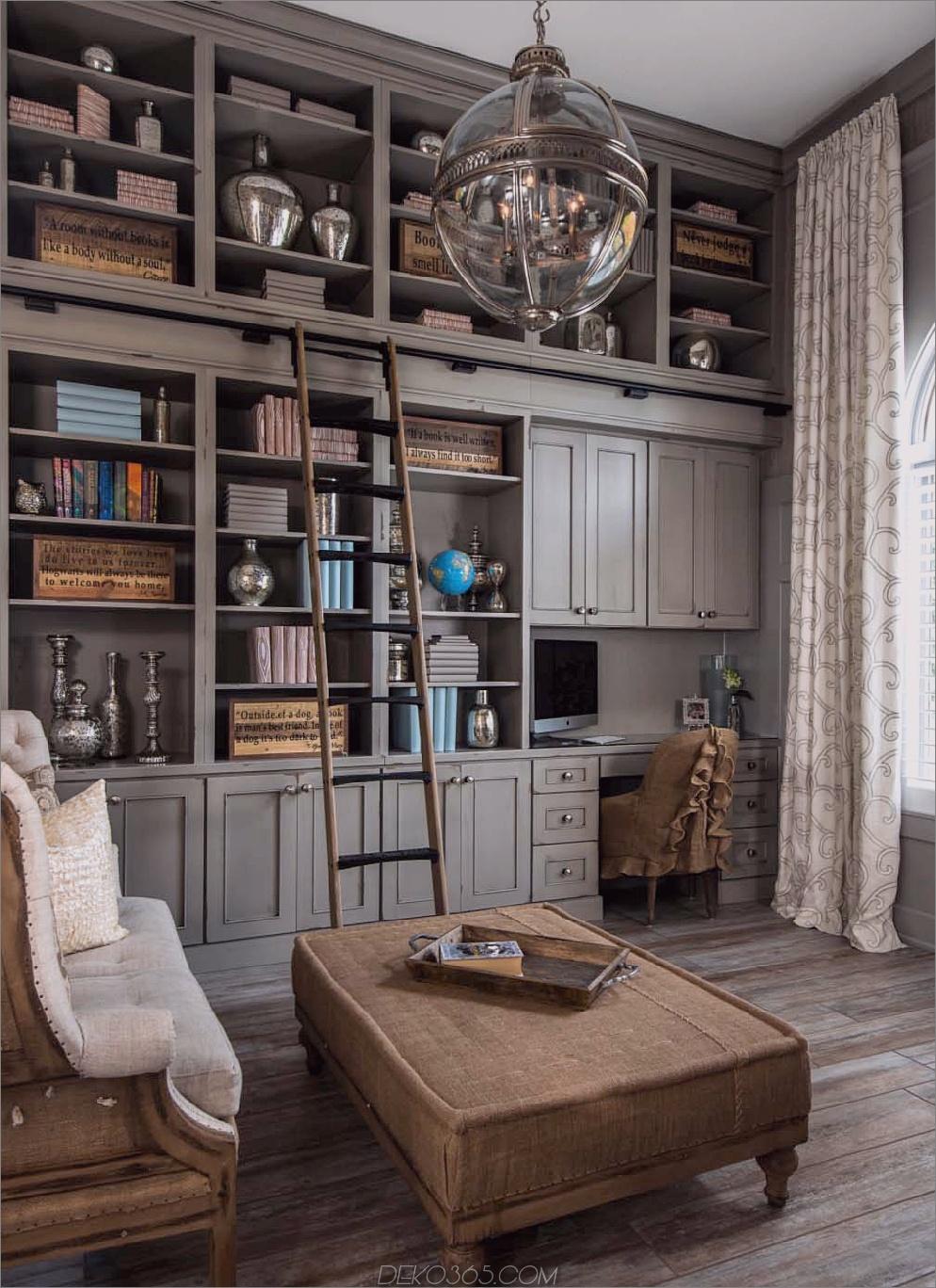 neutrale Heimbibliothek 12 Heimbibliotheken mit einwandfreiem Stil