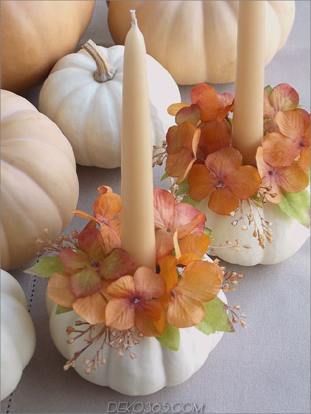 DIY-Kürbis-Deko-Ideen 2 Kerzen Daumen autox840 46315 12 Moderne Möglichkeiten, einen Kürbis zu verzieren, ohne zu schnitzen