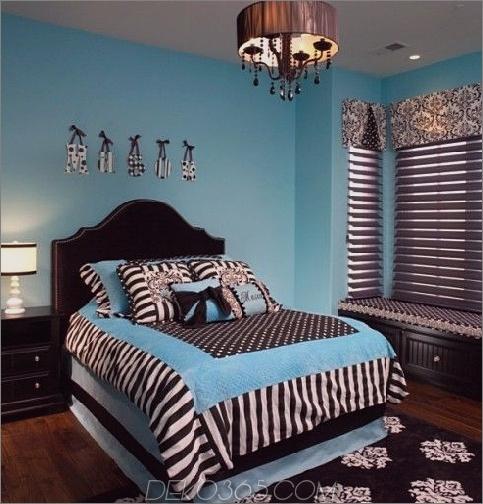 Blaue und braune Schlafzimmermuster
