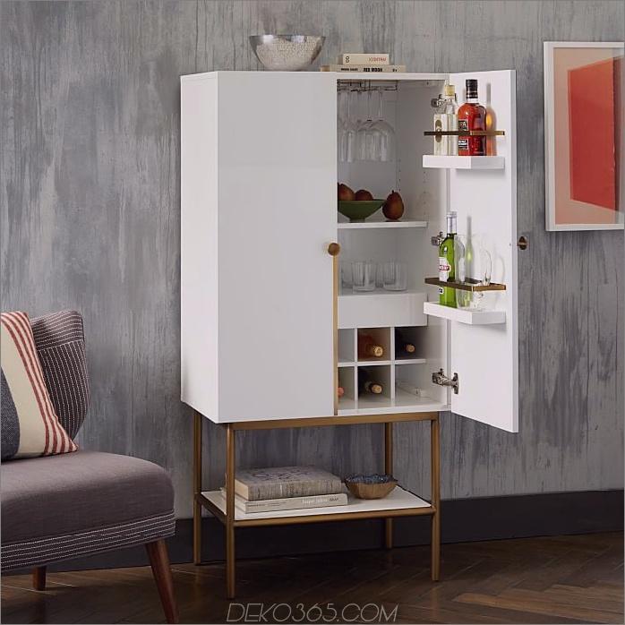 downing bar cabinet Weißes antikes Messing 15 Bar Cabinets, mit denen Sie Dinner-Parties bis zum Wochenende planen