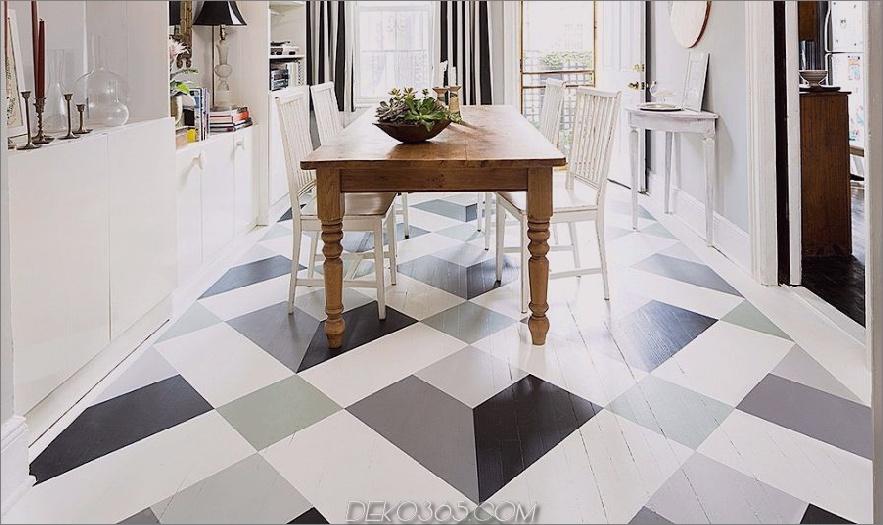 diy bemalte neutrale Designboden 900x534 15 bemalte Böden, die Sie dazu bringen möchten, einen Pinsel zu greifen