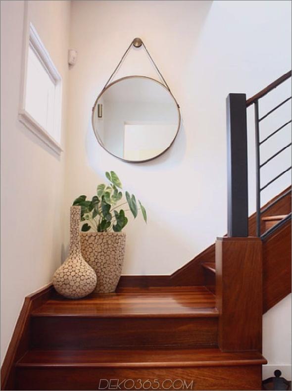 Treppenhaus-Landespiegel hängen 15 einzigartige und trendige Treppenhaus-Dekorationen
