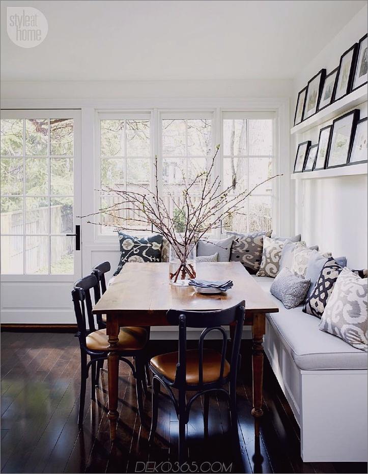 Große Baquette-Bestuhlung für zu Hause 15 Küchen-Banquette-Sitzgelegenheiten für Ihren Frühstücksbereich