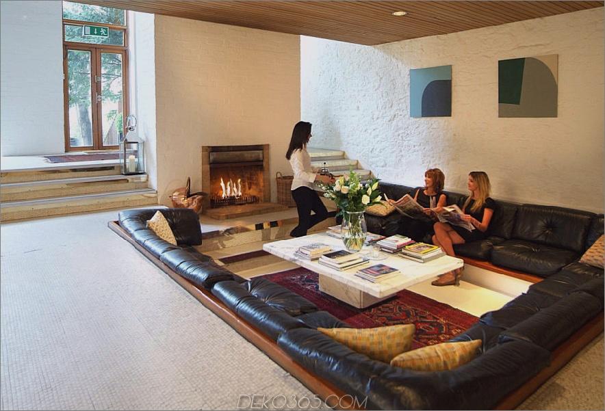 Zeitgenössische versunkene Wohnzimmer Gesprächsgrube 900x611 15 Gesprächsgruben, die ein Comeback machen