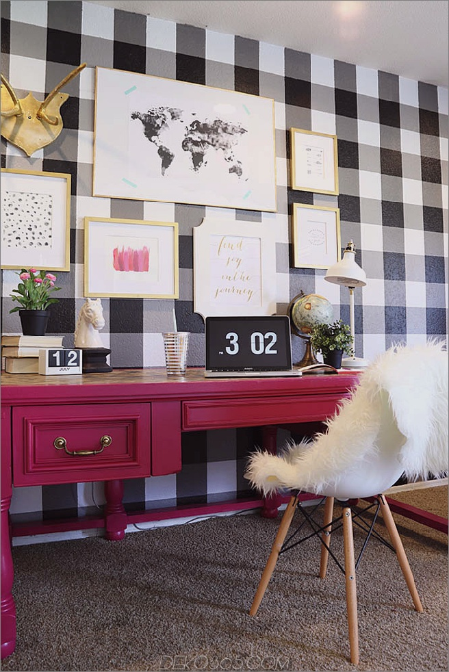 Büffelcheckwand 15 Möglichkeiten, das Haus mit trendigem Buffalo Check zu stylen