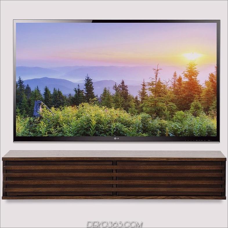 Floating TV Stand Moderne Wand-Medienkonsole Lotus Russet Brown Woodwaves 800x 15 Floating TV Steht für Ihr modernes Wohnzimmer