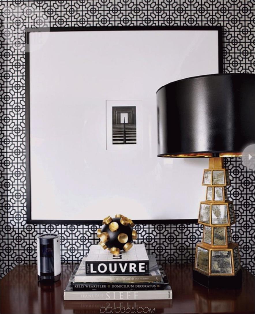 moderner schwarz-weißer Nachttischdekor 900 x 1110 15 Bits für den Nachttischdekor, für den es ein Swooning gab