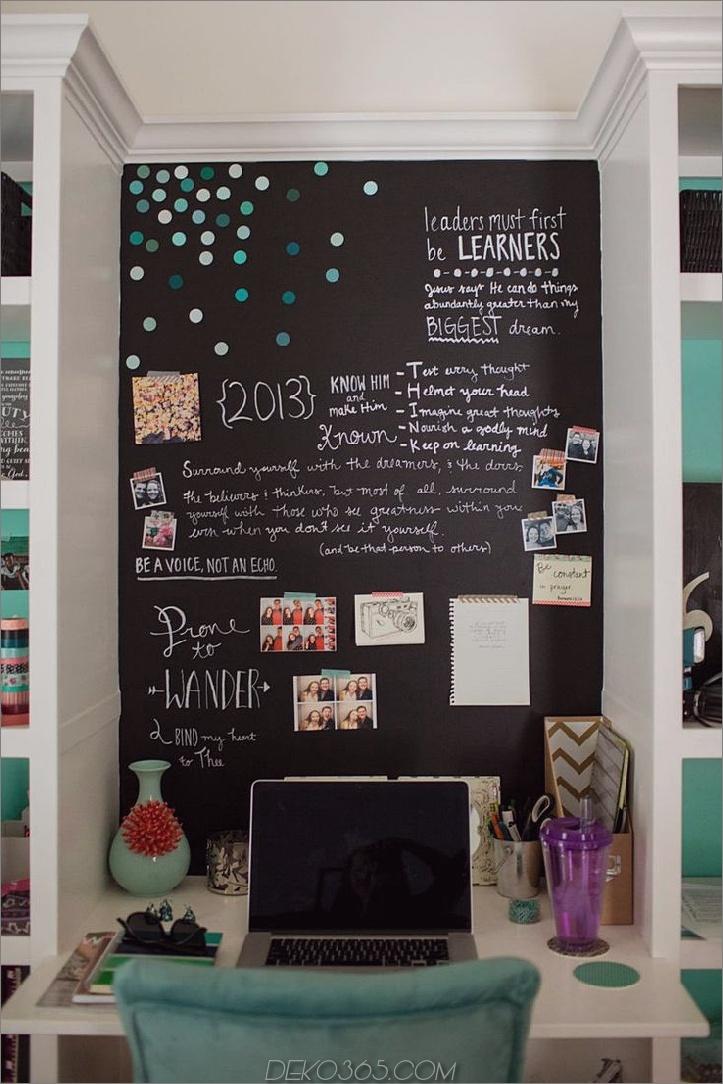 tafelwand schlafzimmer hinter schreibtisch 15 Tafelwände Sie möchten in Ihrem Haus Gebrauch machen