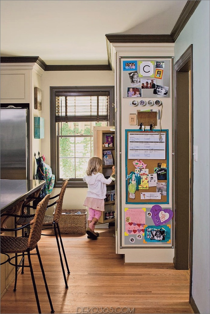 Kommandozentrale der Familie 15 Verschiedene Ideen der Kommandozentrale, um die Familie zu organisieren