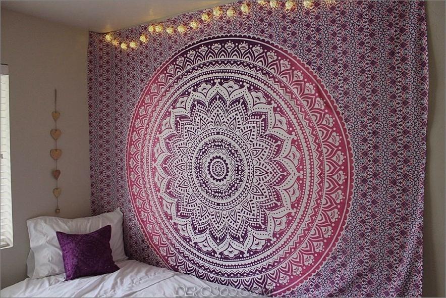 Boho Wandteppich im Schlafzimmer 900x600 15 Wanddekorationen zum Verlieben