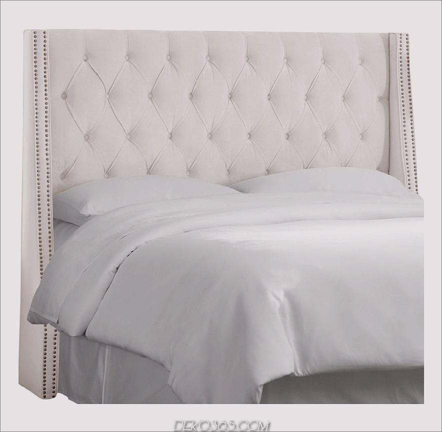 diamantgetufteter Nagelknopf-Wingback-Kopfteil von target 900x881 15 weiße Kopfteile zur Umwandlung Ihres Schlafzimmers mit