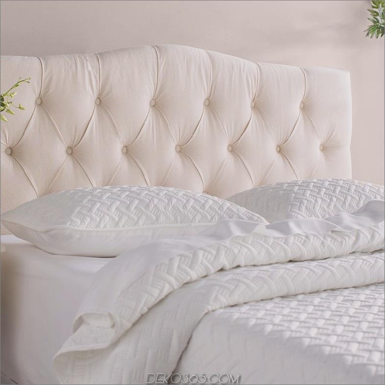 ClevelandUpholsteredPanelHeadboard 15 weiße Kopfteile, mit denen Sie Ihr Schlafzimmer verändern können