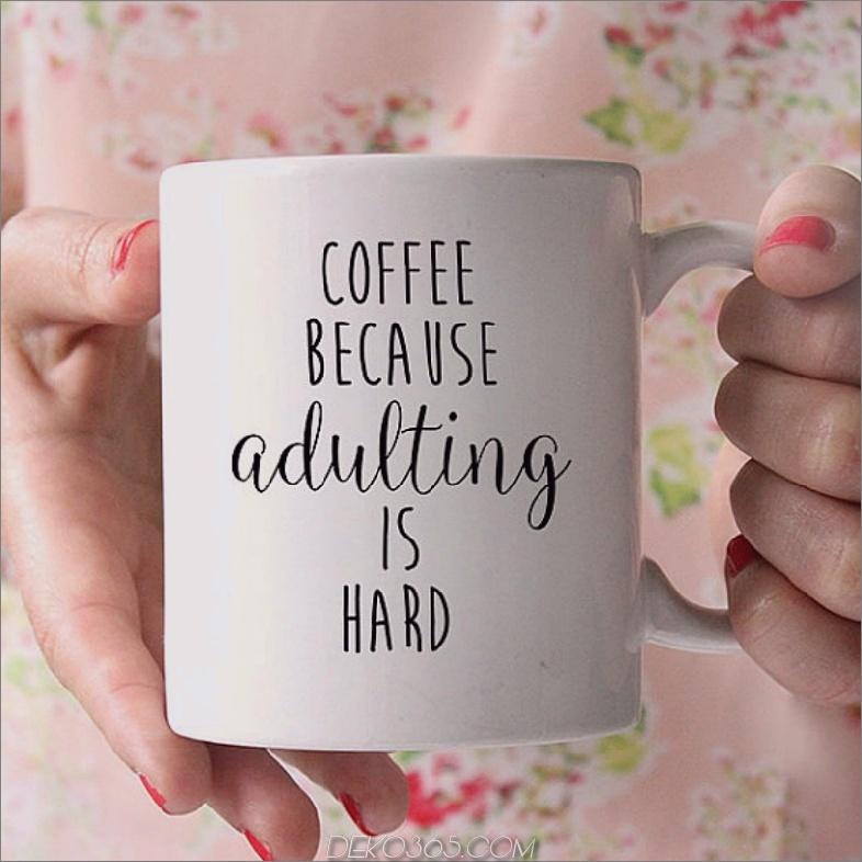 Kalte Tagekaffeetassetext