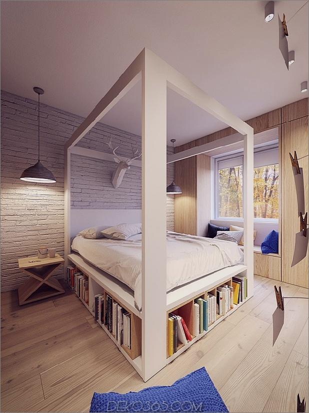 Himmelbett mit Himmelbett und Bücherregalen Daumen autox839 52413 18 Schlafzimmer-Designs aus Holz zum Neid (aktualisiert)