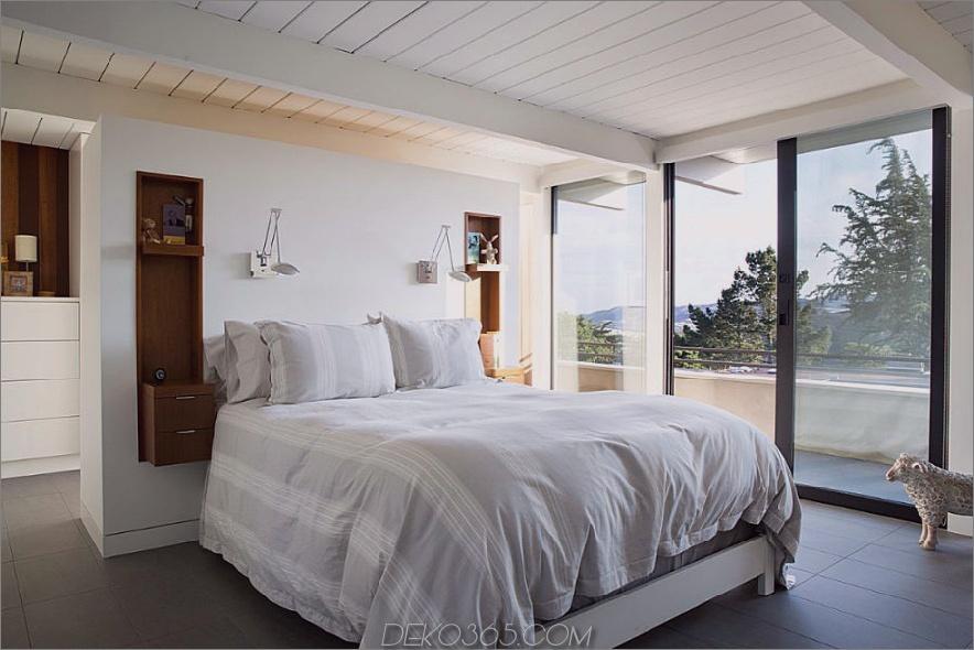 Schlafzimmer Kopfteilwand schafft ein sehr Resort-Gefühl