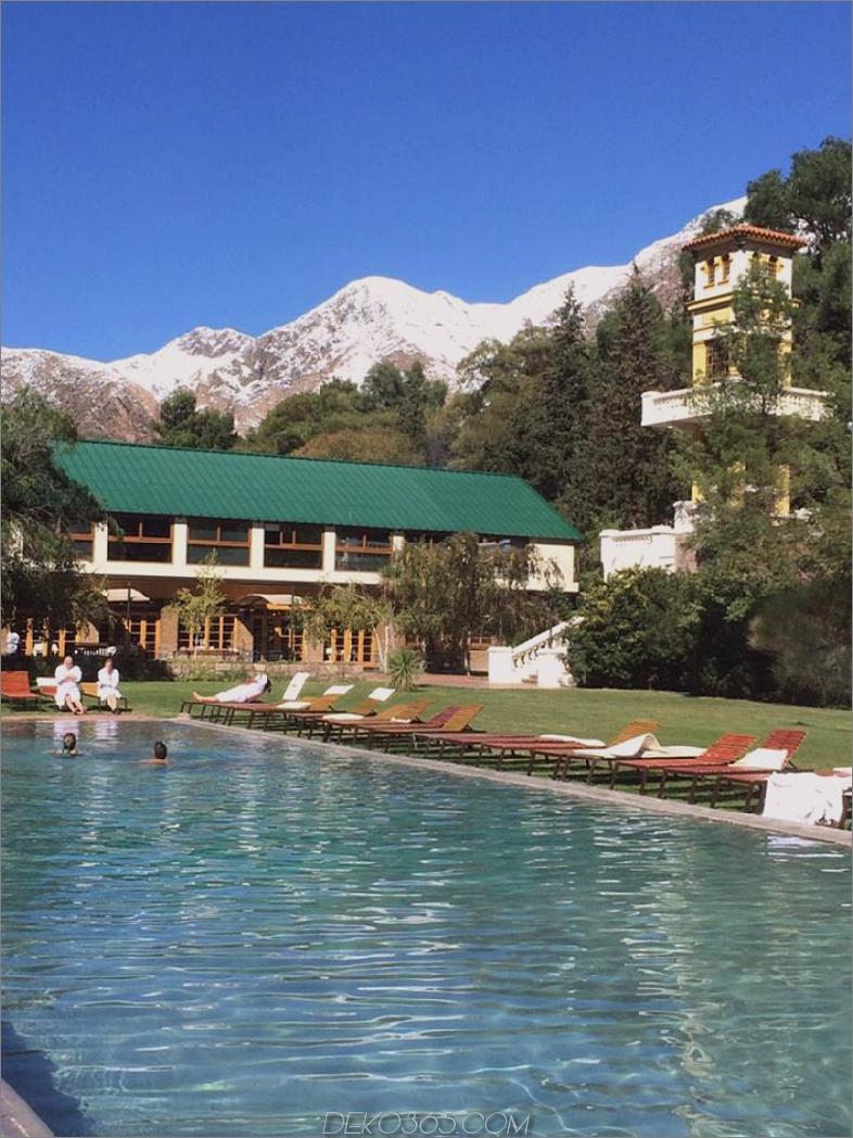Das Öko-Lux-Hotel Cacheuta Thermal in Argentinien