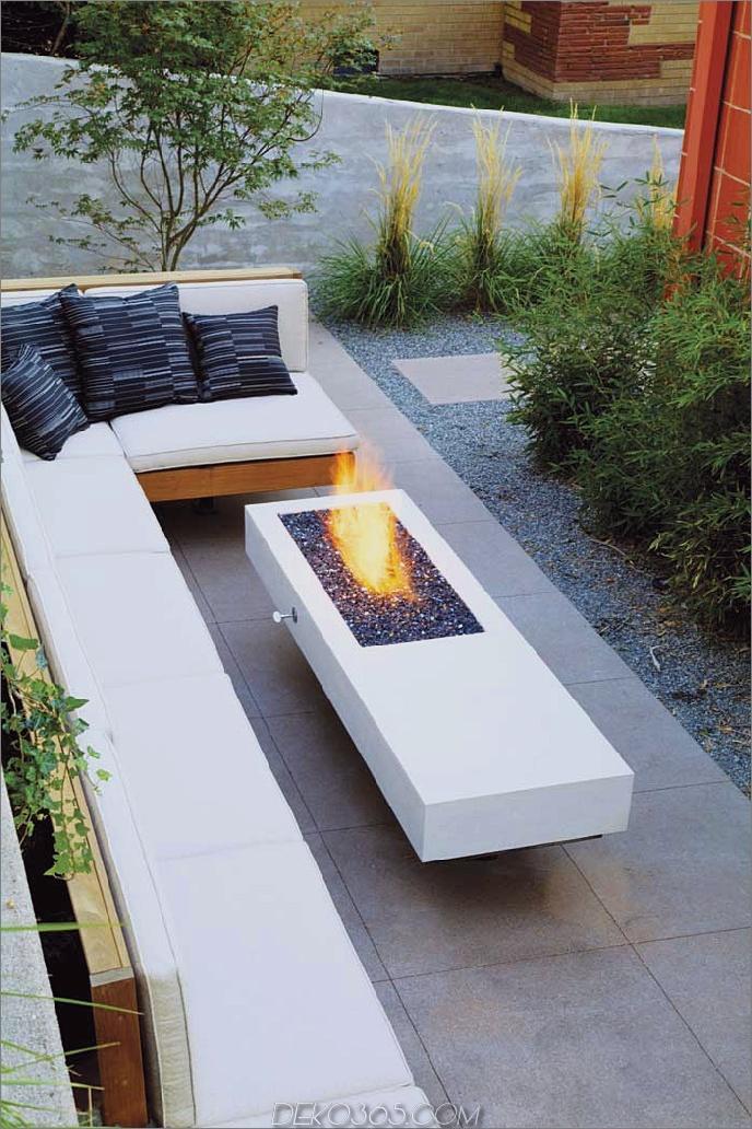 Längliche moderne Feuergrube 20 moderne Feuergruben, die den Stil Ihres Hinterhofs entzünden werden
