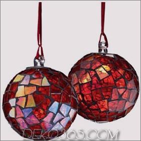 Mosaik-Ball-Weihnachtsbaum-Verzierung - eleganter Feiertagsentwurf von der Kiste u. Vom Fass