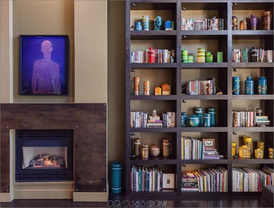 Dunkle Bücherregale an einer hellen Wand. 900x684 23 Eingebaute Bücherregale, um Ihre Fantasie zu übertreffen