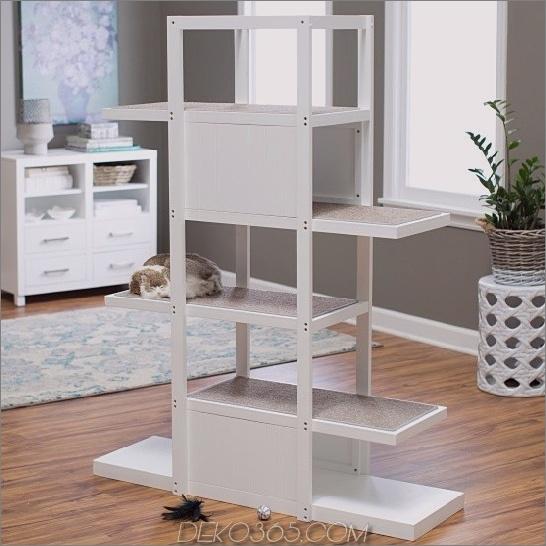 Boomer George 60.25 in. Bookshelf Cat Tree 25 Cat-Möbel, um Ihr Zuhause stilvoll zu halten