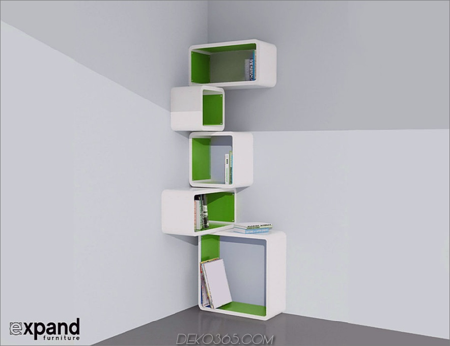 Modulares Eckwürfel-Wandregal