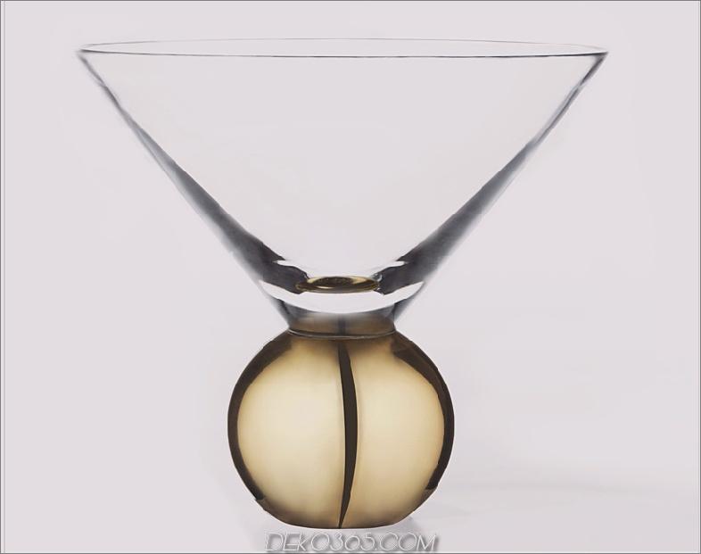 Glas auf Messing Martini-Glas