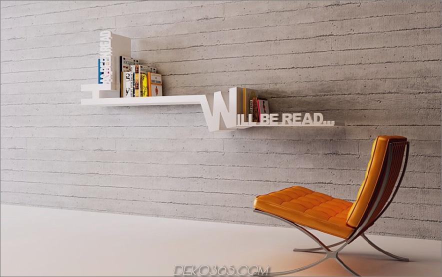 Typografisches Bücherregal von Meb Rure