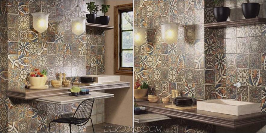 Bolonia Decor Medievo Glasierte Keramik-Wandfliese von Italtile 900x450 27 Moderne Keramikfliesen-Designs mit italienischer Gunst