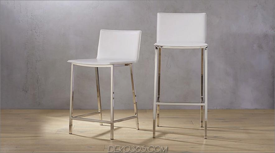 Phoenix Barhocker aus Elfenbein 900x500 30 Küchenstühle mit modernem Flair