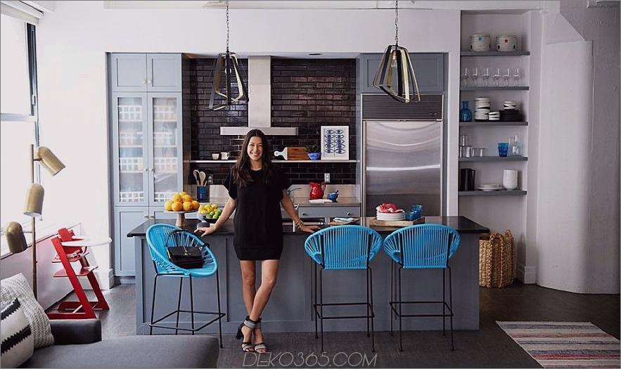 Rebecca Minkoffs Küche mit Puerto-Stühlen