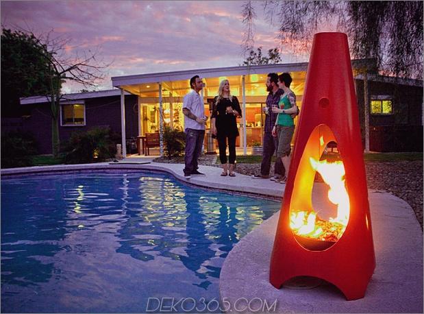 hochkegelförmiges, modernes Metall-Feuergruben-Design urbanfire thumb 630xauto 57314 35 Metall-Feuergruben-Designs und Ideen für die Außengestaltung