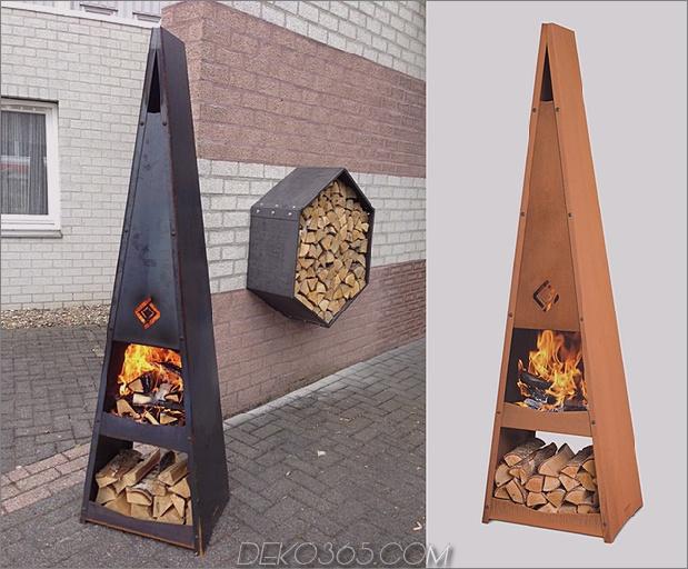 pyramide feuergrube design-idee katan thumb 630xauto 57316 35 feuergrubenentwürfe aus metall und Ideen für Außengestaltung