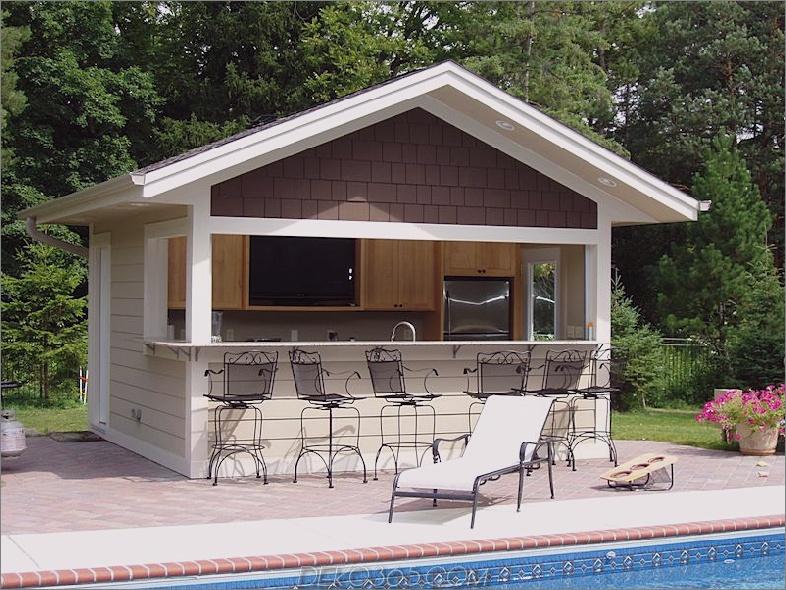 Sommer Pool Haus Bar Design