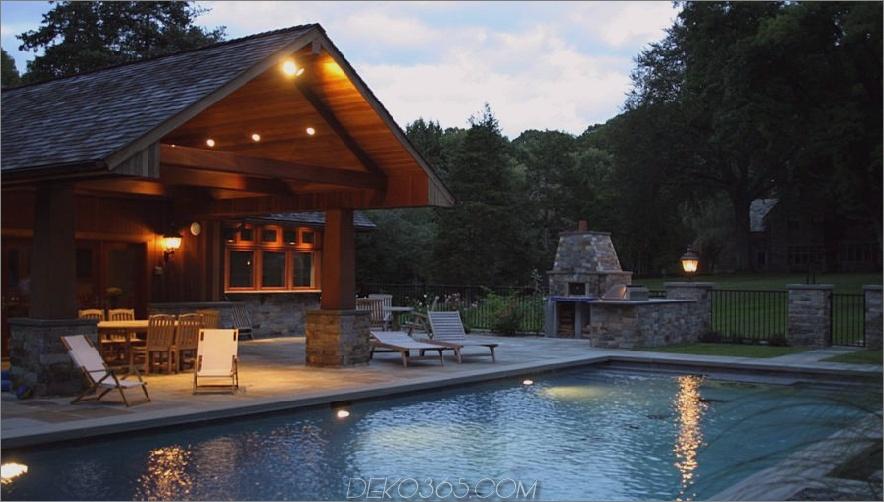 Design-Idee für den Pool im Hüttenstil