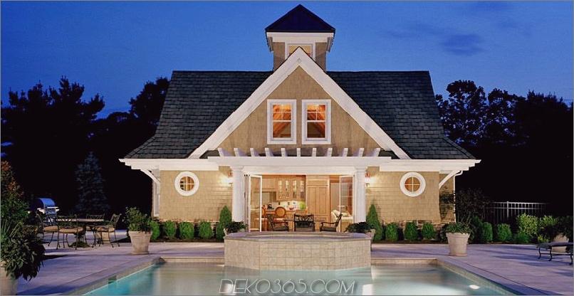 Poolhaus-Design mit Urlaubsstimmung