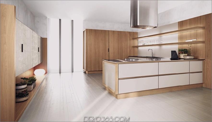 fabelhafte weiß-und-walnuss-zweifarbige-Küchenschränke-Design-Inspirationen-ansprechende-Ahorn-Naturholz-Laminat-Boden-plus-Dunstabzugshaube-in-futuristisch-Stil-mit-Küche- Schränke-Refacing-and-i