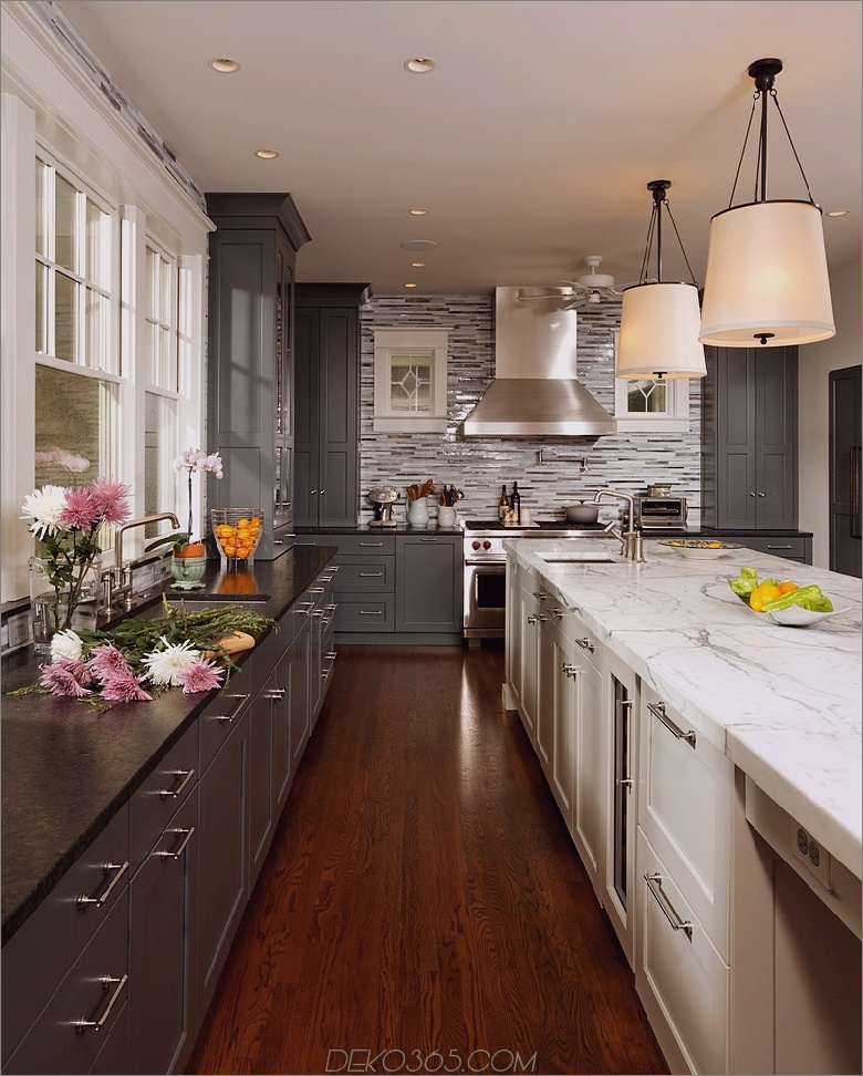 Zweifarbige-Küchenschränke-Transitional-Kitchen-Color-Schemes-Chicago