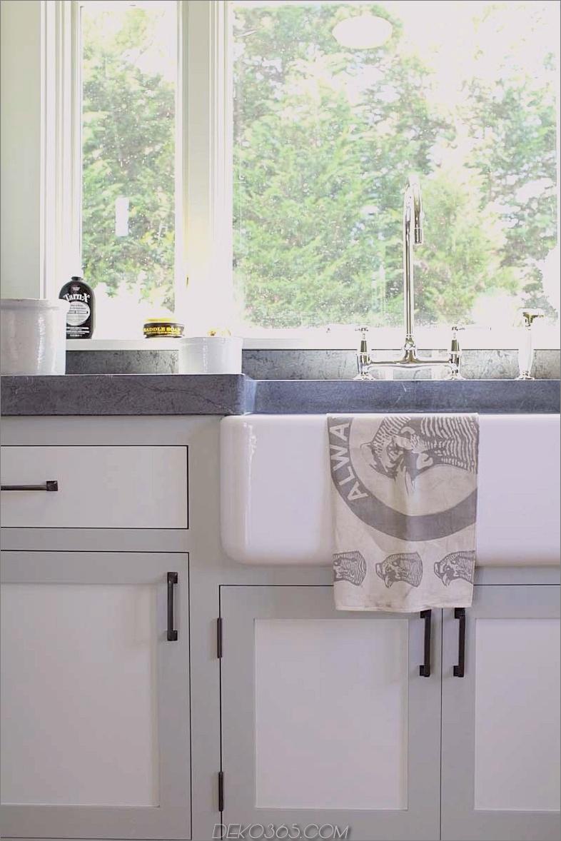 Küchenspüle Bauernhaus Stil zwei getönten Schränke grau weiß cococozy dan Scotti Design