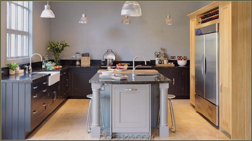 Zwei-Ton-Grau-Küchenschränke