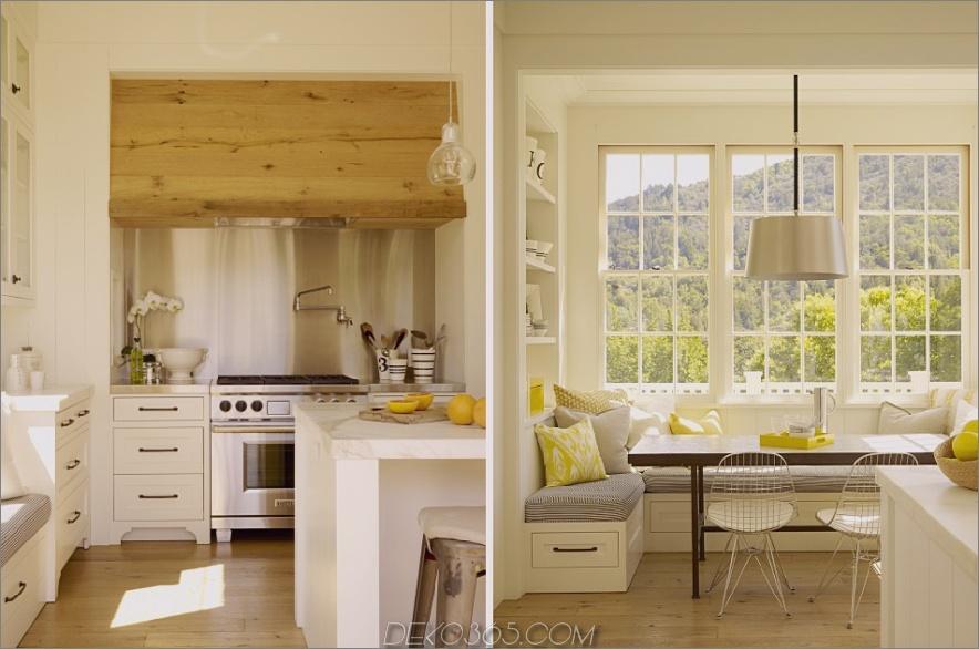 Moderne Küchenart mit Fenstersitzen