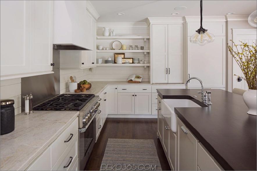 Weiche und subtile Küche im Landhausstil